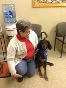 Janice & River (Therapy dog)
